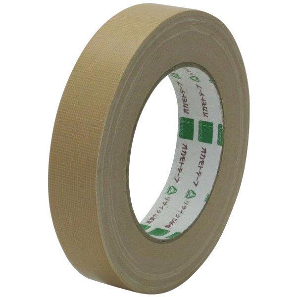 オカモト 布テープ養生用 24mm×25m クリーム YJ-01 60巻 (直送品)
