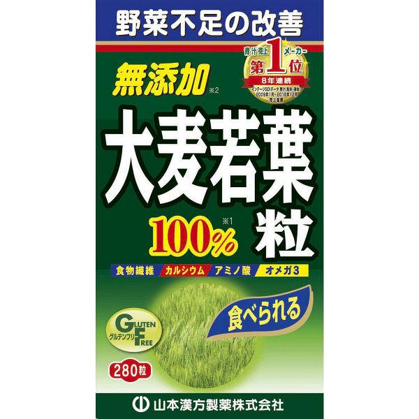 山本漢方製薬 大麦若葉青汁280粒×2個