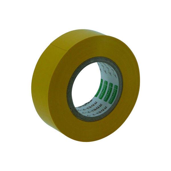 オカモト ビニールテープ 19mm×10m 黄 470 300巻 (直送品)