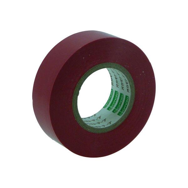 オカモト ビニールテープ 19mm×10m 赤 470 300巻 (直送品)