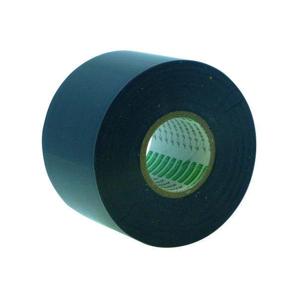 オカモト ビニールテープ 50mm×20m 黒 470 80巻 (直送品)