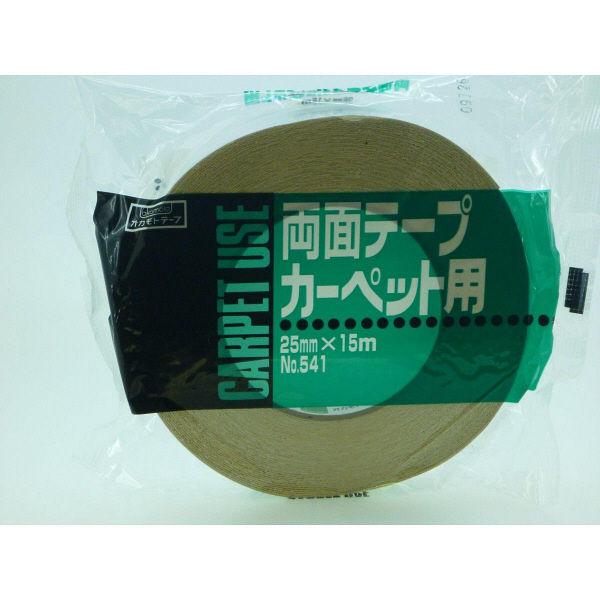 オカモト 布両面テープ 25mm×15m 541 60巻 (直送品)