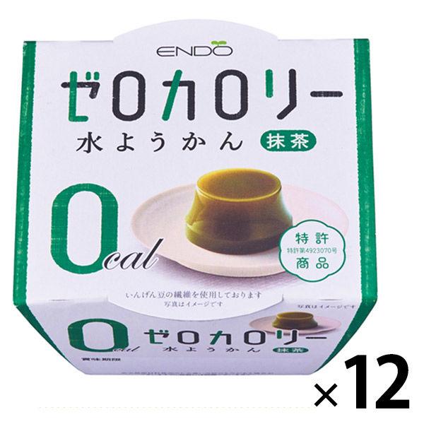 ゼロカロリー水ようかん抹茶12個