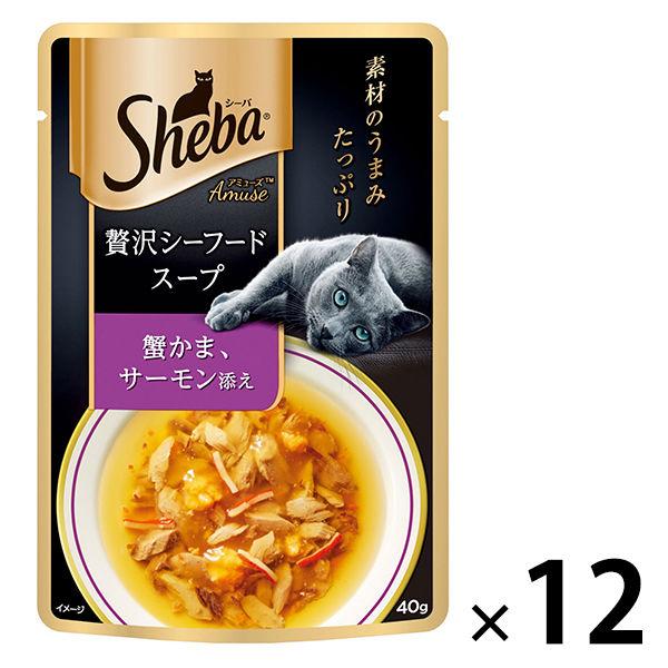 シーバAシーフードスープ蟹サーモン×12