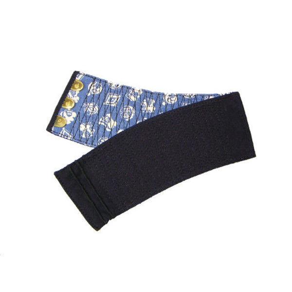 ケイワーク 本藍染手甲 3枚コハゼ 藍 小 B20-AI-JS (取寄品)