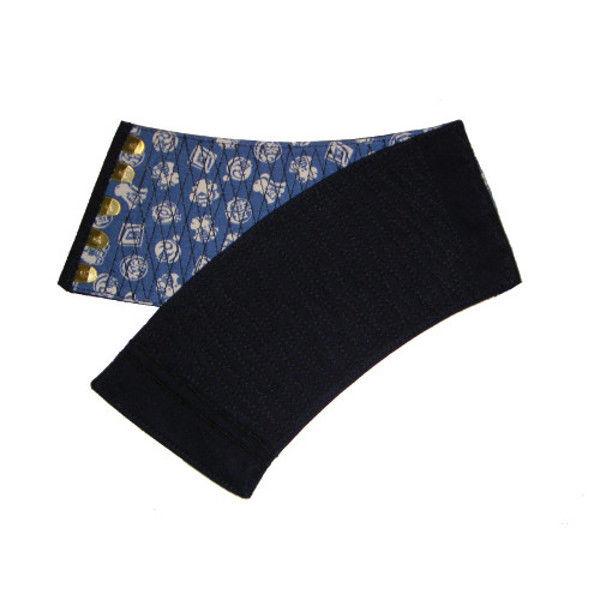ケイワーク 本藍染手甲 5枚コハゼ 藍 大 B40-AI-JL (取寄品)