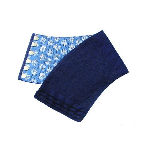ケイワーク 本藍染手甲 6枚コハゼ 藍 中 B70-AI-JM (取寄品)