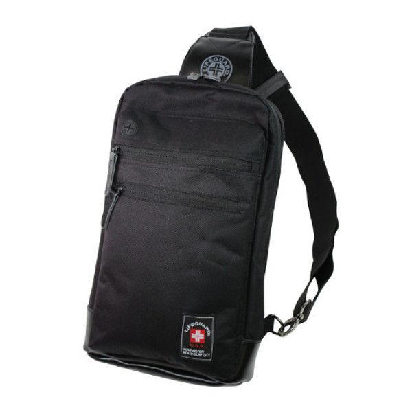ケイワーク ライフガードボディーバッグ ブラック LB01-BK (取寄品)