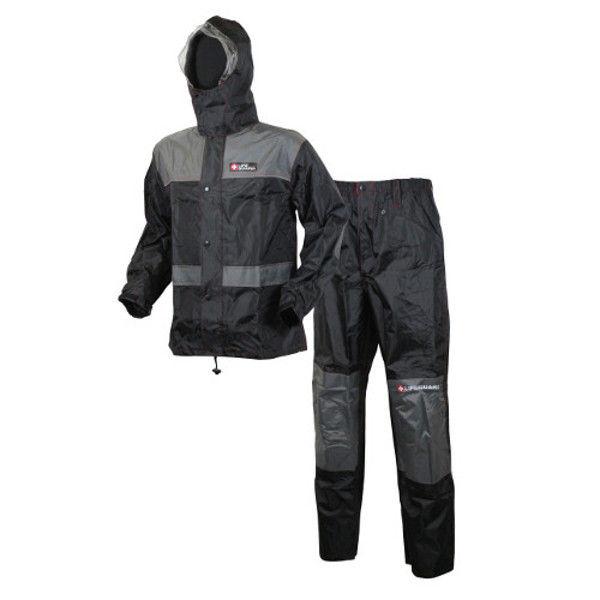 ケイワーク ライフガードマグナムレインスーツ グレー/ブラック EL LR01-GY-EL (取寄品)