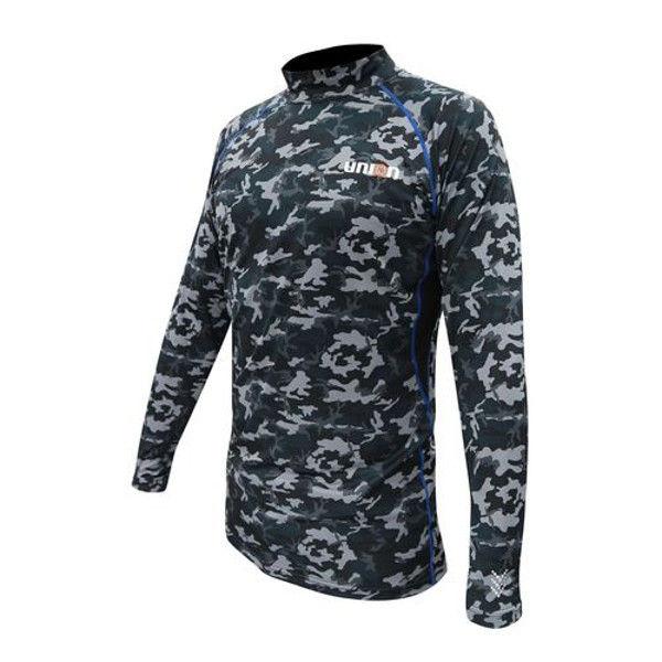 ケイワーク 76ストレッチシャツ(裏起毛) カモフラージュ L N761-CM-L (取寄品)