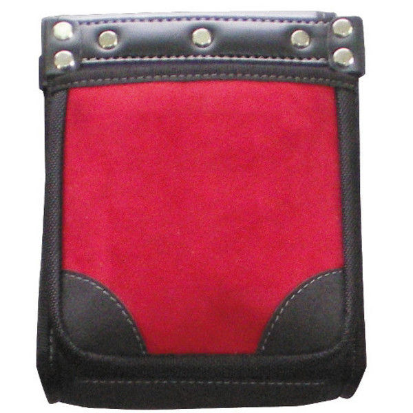 ケイワーク カワタッチ2段腰袋 赤x黒 PW51 (取寄品)