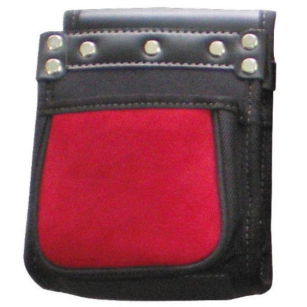 ケイワーク カワタッチ小型2段腰袋 赤x黒 PW53 (取寄品)