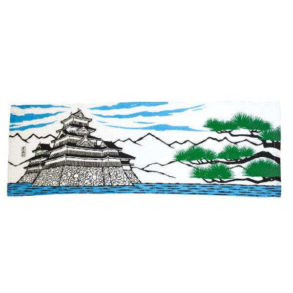 ケイワーク 和風ガーゼロングタオル No.32 城 TW120-NO32 (取寄品)
