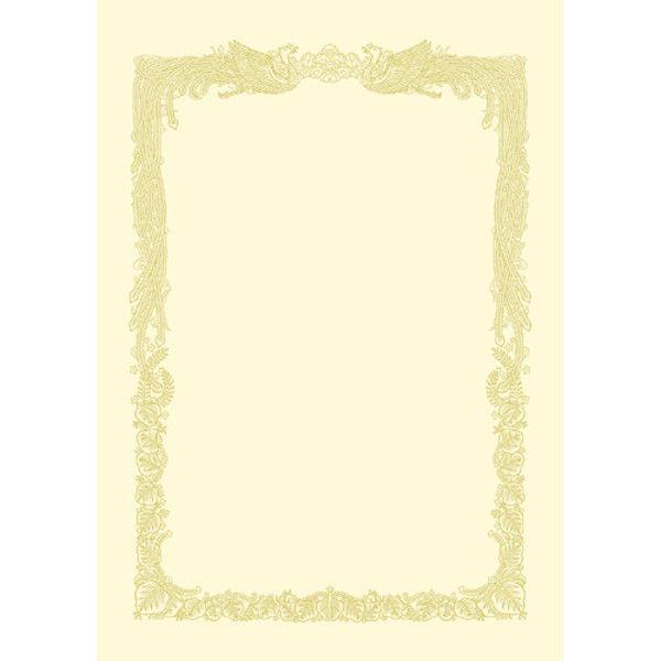 タカ印 賞状用紙 A4 横書 100枚 10-1168 (直送品)