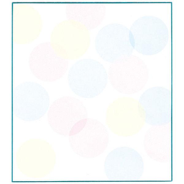 色紙 水玉ブルー 33124006 5枚 デザインフィル (直送品)