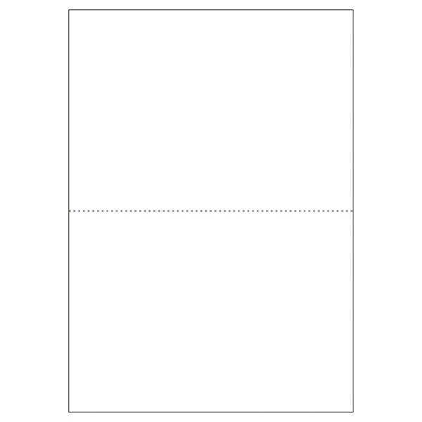 ヒサゴ プリンター帳票 A4 白/2面穴無100枚 BP2002 (直送品)
