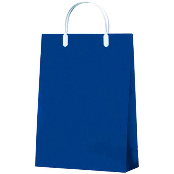 今村紙工 カラーコーティングバッグA4 紺10枚 CCB-01 (直送品)