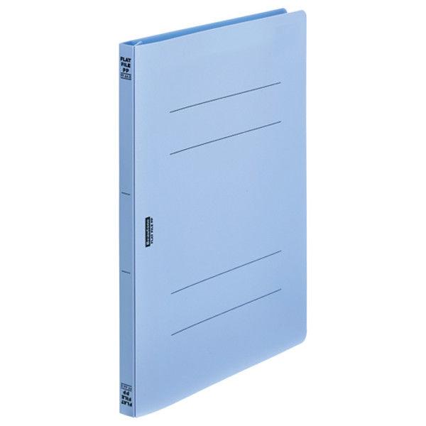 ビュートン フラットファイルPP A4S ブルー FF-A4S-B 5冊 (直送品)