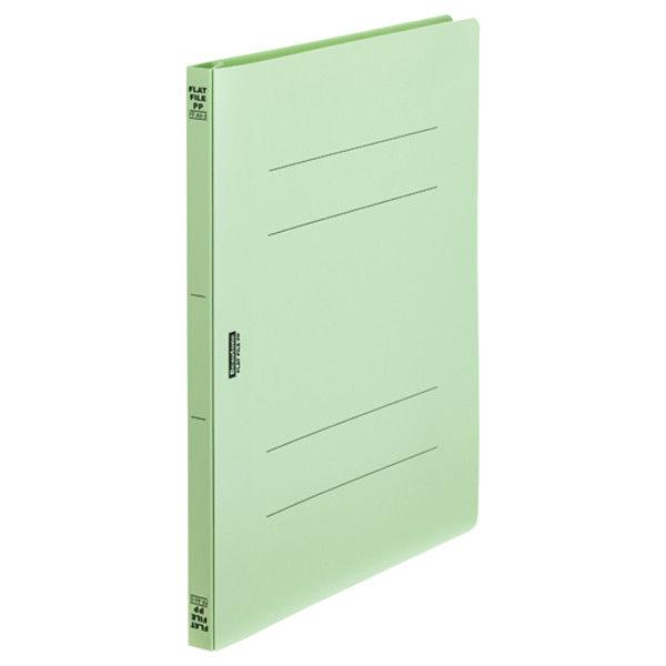 ビュートン フラットファイルPP A4S グリーン FF-A4S-GN 5冊 (直送品)