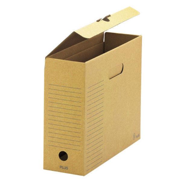 プラス ボックスファイル 蓋付A4E 10冊 FL-081BF DGY (直送品)