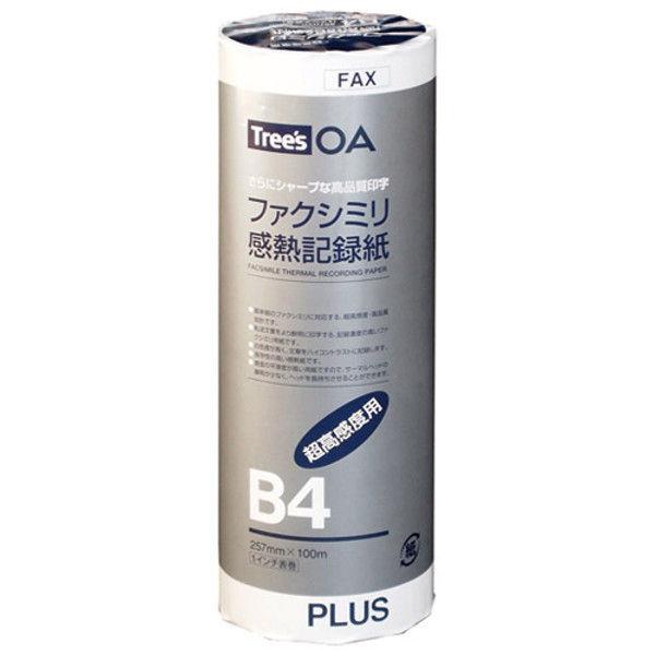 プラス FAX感熱記録紙 B4 1in 100m FR-257-H (直送品)