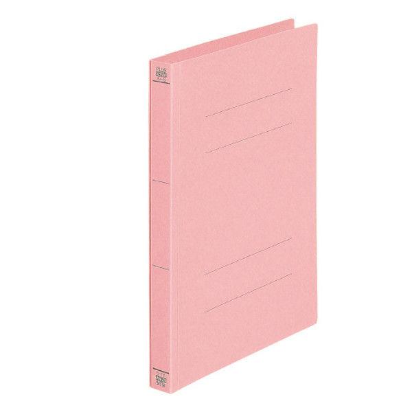 プラス フラットファイル A4S 桃 10冊 NO.021NW10PK (直送品)