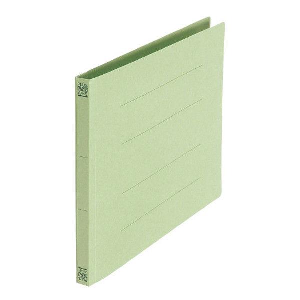 プラス フラットファイル A4E 緑 10冊 NO.022N10GR (直送品)