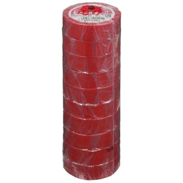ヤマト ビニールテープ 19mm*10m 赤 10巻 NO200-19-20-10P (直送品)