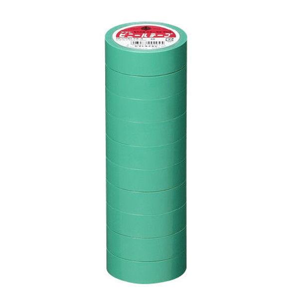 ヤマト ビニールテープ 19mm*10m 緑 10巻 NO200-19-4-10P (直送品)