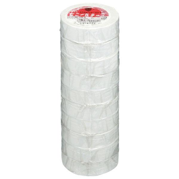 ヤマト ビニールテープ 19mm*10m 白 10巻 NO200-19-5-10P (直送品)