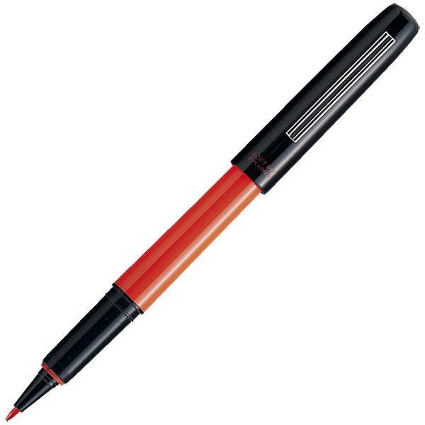 プラチナ万年筆 ソフトペン パック 赤 10本 SN-800C #75 (直送品)