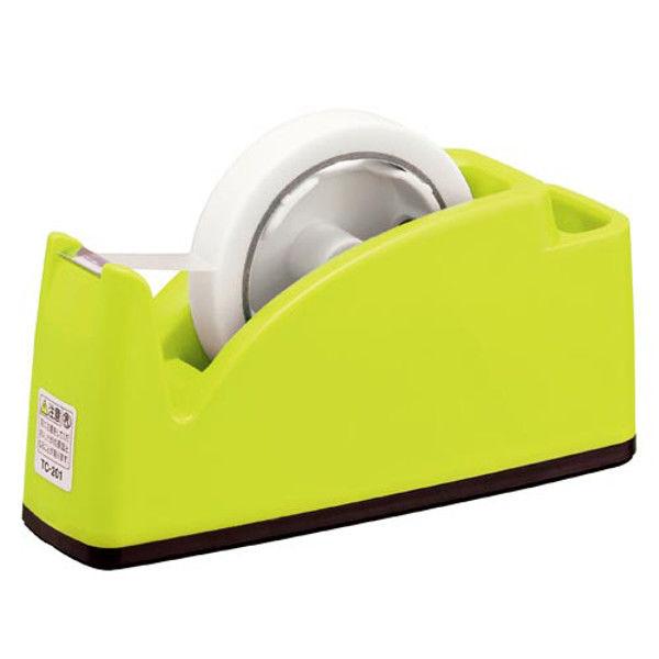 プラス テープカッター ライトグリーン TC-201 2台 (直送品)