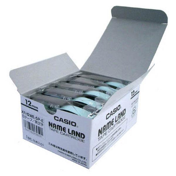 カシオ計算機 テープ 白に黒文字 12mm20個 XR-12WE-20P-E 1セット (直送品)