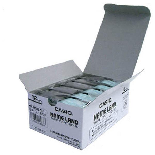 カシオ計算機 テープ 白に黒文字 18mm20個 XR-18WE-20P-E 1セット (直送品)