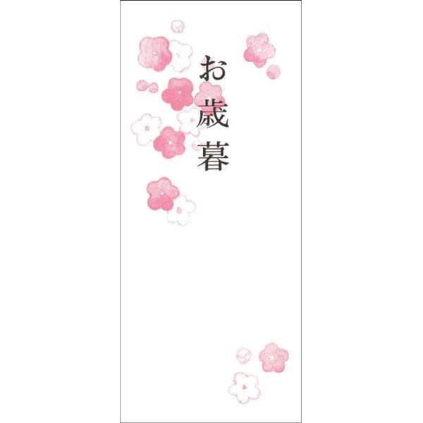 ササガワ タカ印 OA対応札紙 花柄 お歳暮 幅広 28-52 500枚(100枚袋入×5冊箱入) (取寄品)