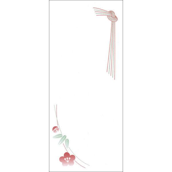 ササガワ OA対応札紙 結びのし 無字 幅広 28-55 500枚(100枚袋入×5冊箱入) (取寄品)