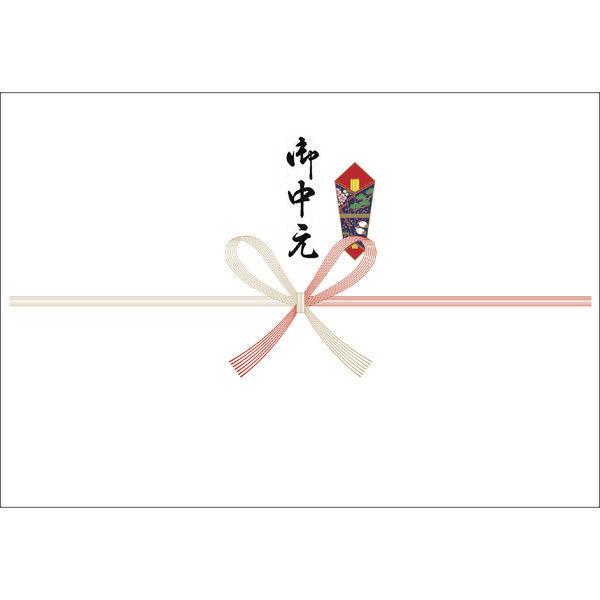 ササガワ タカ印 のし紙 本中判 祝 御中元 山 3-907 500枚(100枚袋入×5冊包) (取寄品)