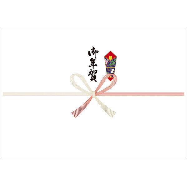 ササガワ タカ印 のし紙 本中判 祝 御年賀 山 3-927 500枚(100枚袋入×5冊包) (取寄品)
