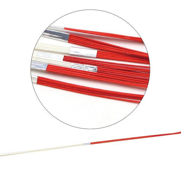 ササガワ タカ印 水引 白赤15 44-115 100本(100本包装) (取寄品)