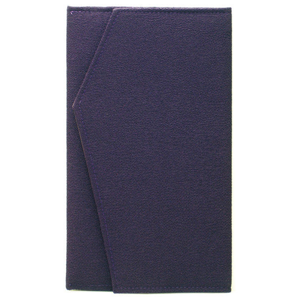 ササガワ タカ印 金封ふくさ ちりめん紫 兼用 44-1205 5枚(1枚袋入×5枚袋入) (取寄品)