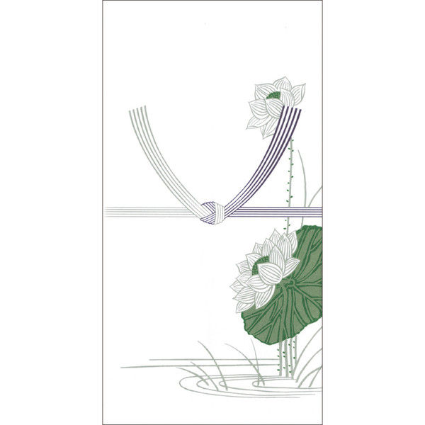 ササガワ タカ印 のし袋 千型 蓮 無字 上質紙 6-2280 400枚(10枚袋入×40冊箱入) (取寄品)