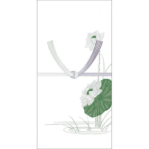 ササガワ タカ印 のし袋 万型 蓮 無字 上質紙 6-2310 400枚(10枚袋入×40冊箱入) (取寄品)
