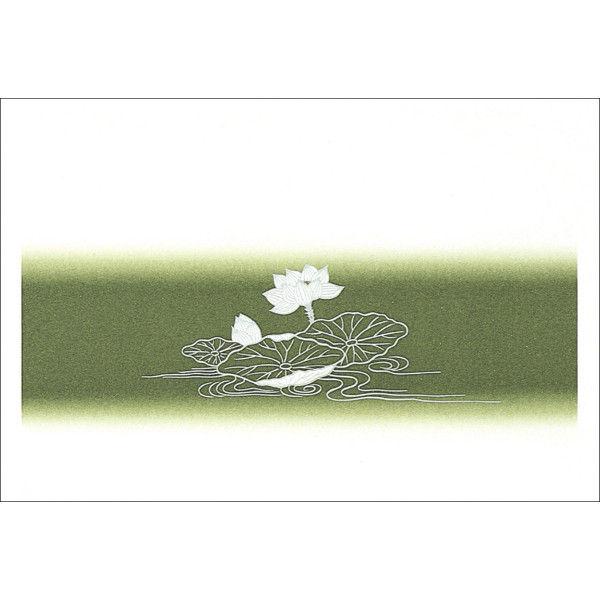 ササガワ タカ印 掛紙 本中判 佛 無字 竹 8-467 500枚(100枚袋入×5冊包) (取寄品)