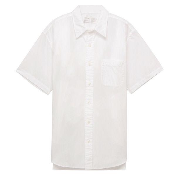 【半額】無印良品 洗いざらしブロードシャツ 白シャツ MUJI MB