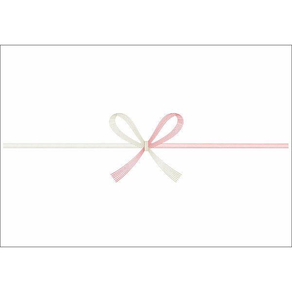 ササガワ のし紙 半紙判 花結 のし無し 山 3-505 500枚(100枚袋入×5冊包) (取寄品)