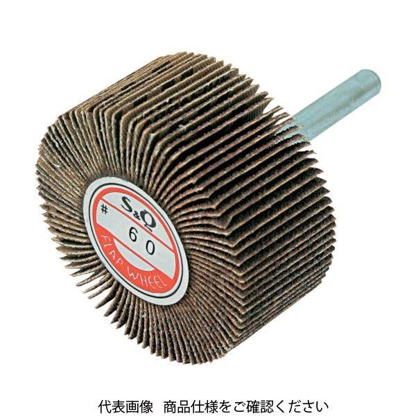 ムラコ MURAKO 軸付フラップ(金具無し) 外径30幅25軸径6 60# KN3025-60 1セット(10個) 835-6047(直送品)
