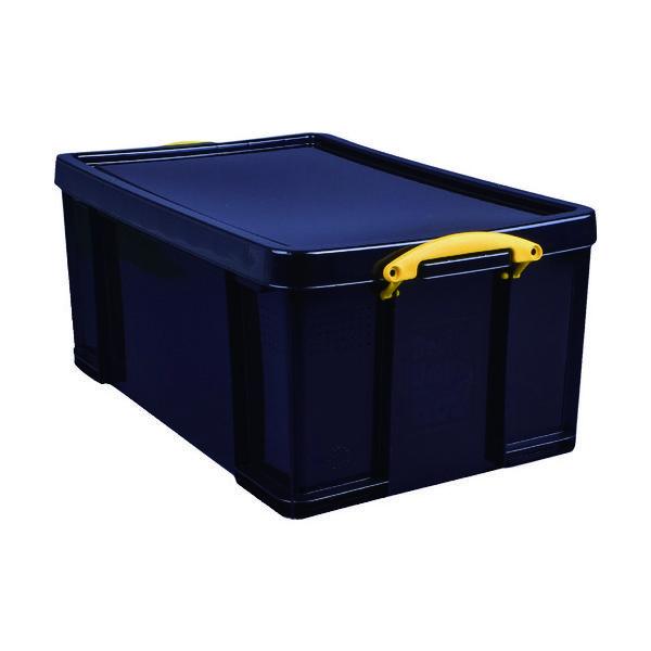 RUP コンテナ Really Useful Box 64L ブラック 64BLK 1個 856-2757(直送品)