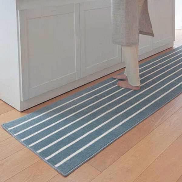 キッチンマットサックス45×120cm