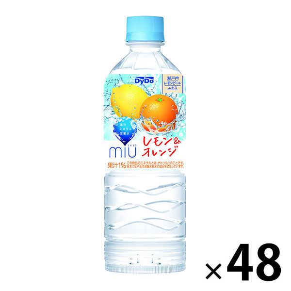 ミウ レモン&オレンジ550ml×48