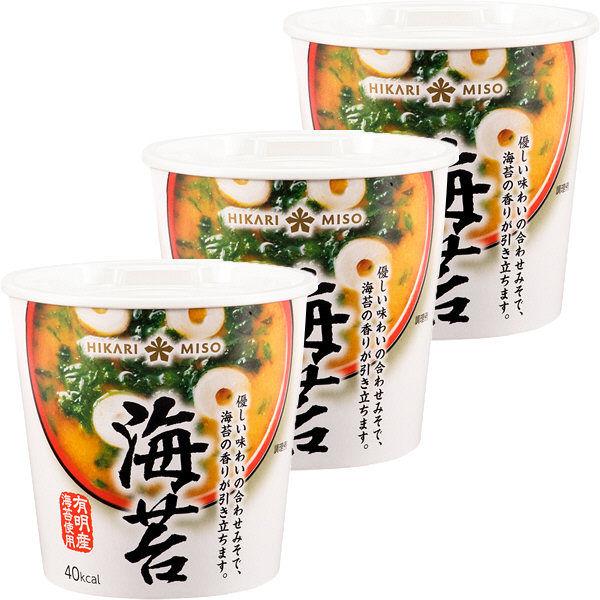 ひかり味噌 カップみそ汁海苔汁 3個